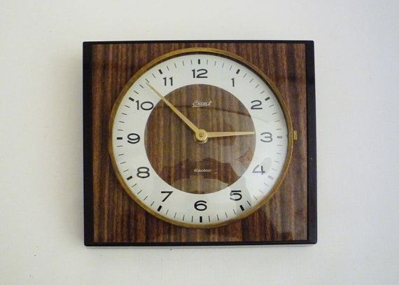 Vintage German Wall Clock from Exact by oppning on Etsy