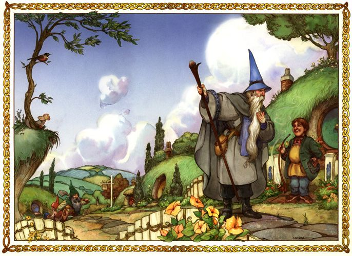 If you haven't seen it do have a go at it.   The Hobbit, illustrated by David Wenzel.