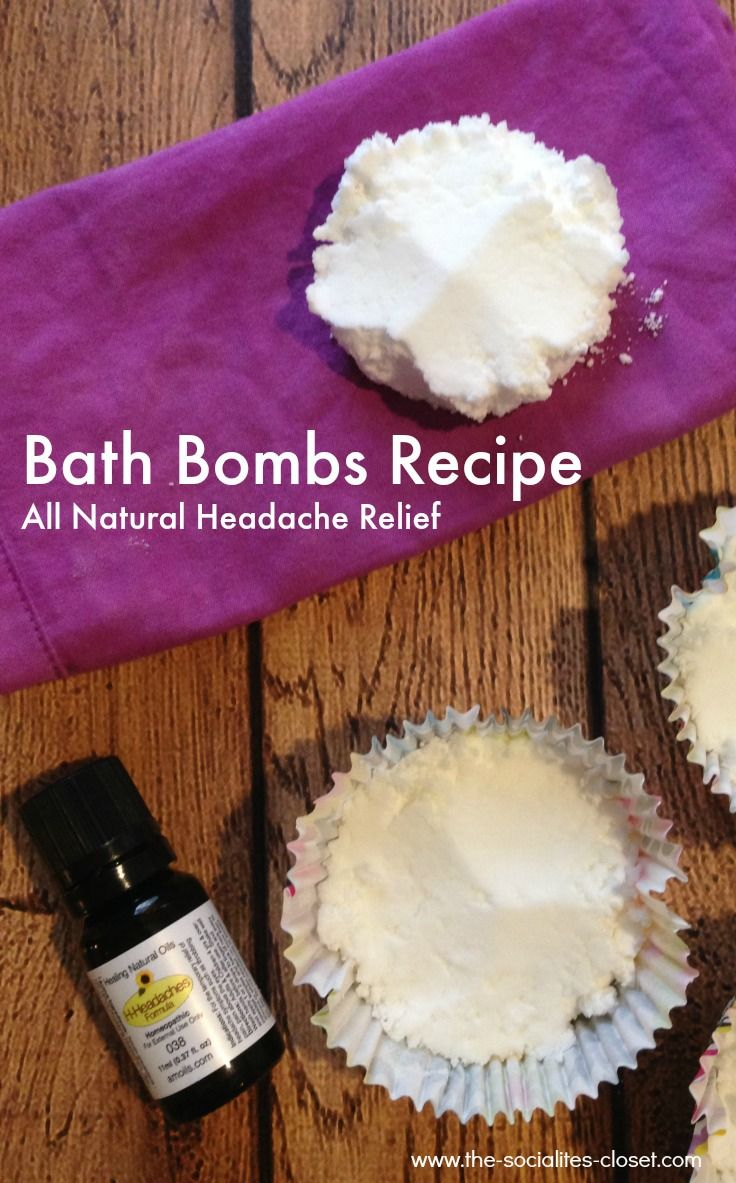 AD: Bath bombs recipe for headache relief using essential oil blend and all natural ingredients #AMOILS