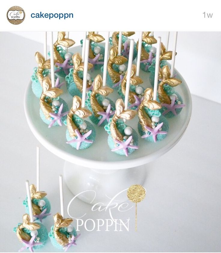 Little Mermaid Cake Pops | Under the Sea Theme | #CakePoppin | Silicone mold from #LollicakesByElla