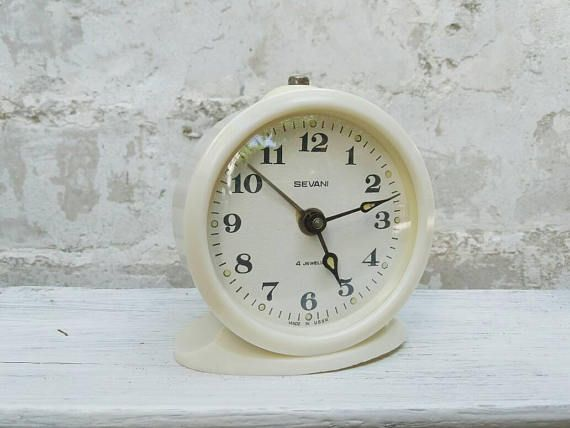 Check out this item in my Etsy shop https://www.etsy.com/listing/538615381/vintage-soviet-alarm-clock-white