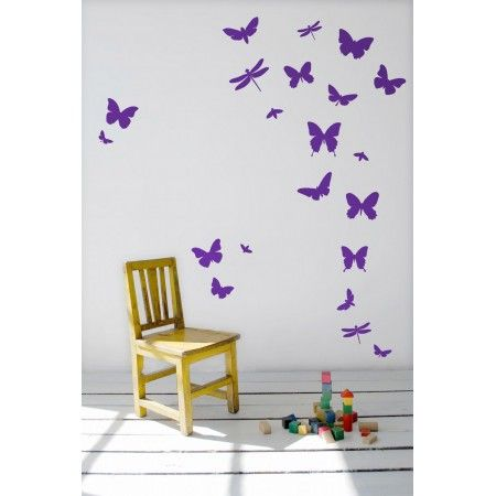 Butterflies removable wall decals by Ferm Living Bring inspiration and fun to your living space with these butterfly wall stickers in violet. Description from pinterest.com. I searched for this on bing.com/images