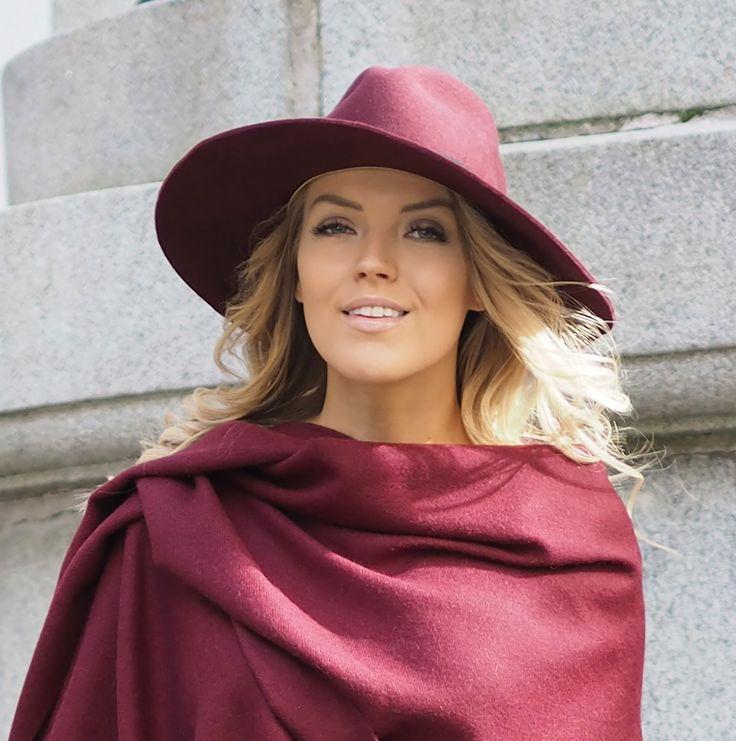 Lombardia felt hat, burgundy