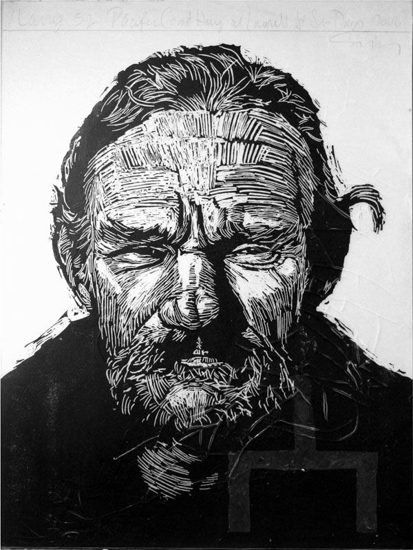 Best images about neil shigley lino cut portraits on