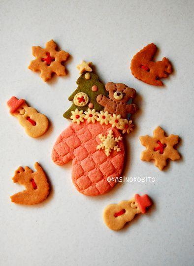 クリスマスクッキーの試作 | アイシングクッキーおかしのこびとのブログ