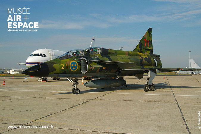 Musée de l'Air et de l'Espace,Le Bourget.Arrivée en vol - Saab Viggen - 17/10/2005