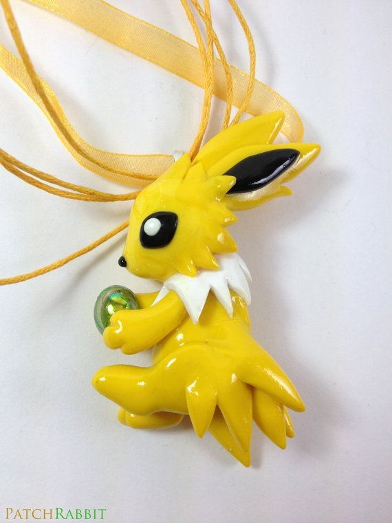 Jolteon Thunderstone Necklace Hand Crafted by Fuckinintents, $70.00