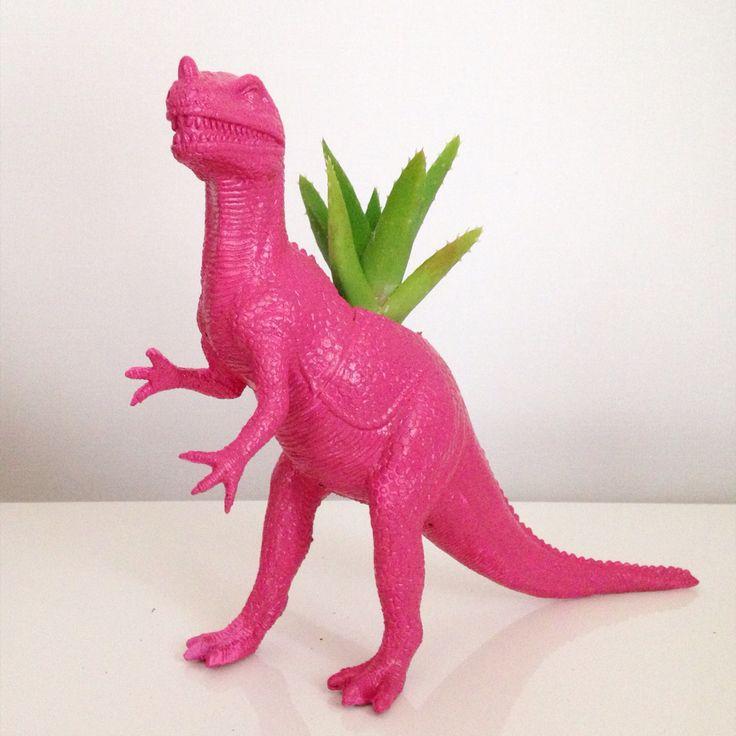Macetero dinosaurio cactus suculenta  www.facebook.com/ohmylove.bazar