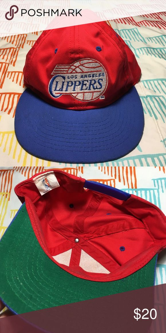 Vintage LA Clippers NBA Basketball SnapBack Hat One Size NBA Accessories Hats