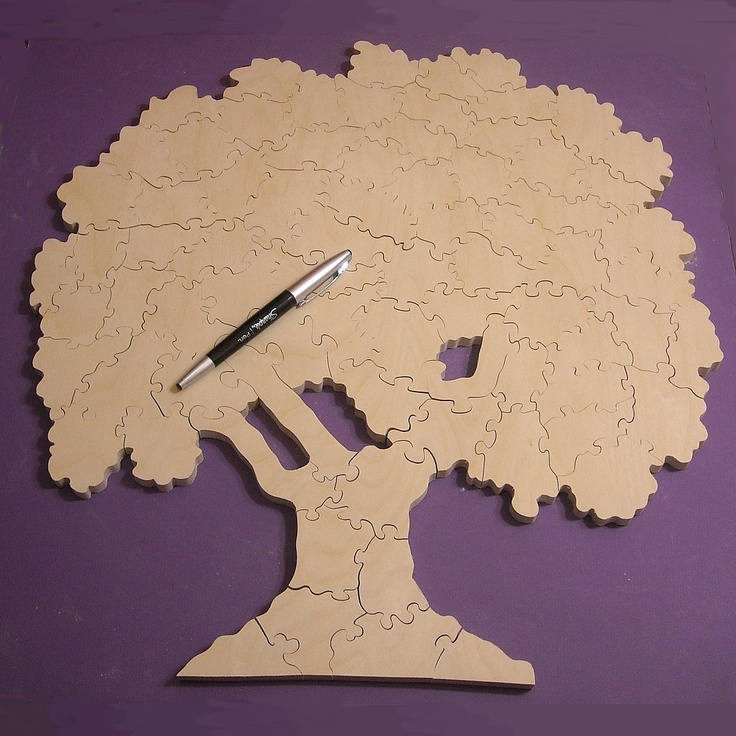 wedding guest book tree puzzle unfinished wooden puzzle