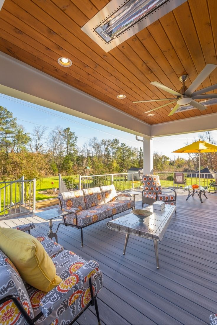 410 best composite decks by fiberon images on pinterest for Grey stone deck