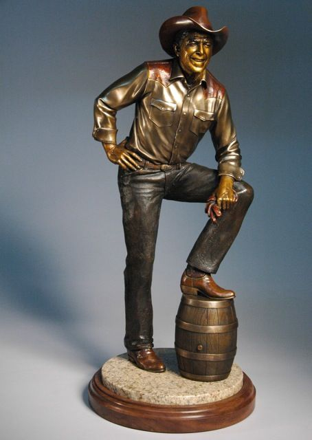 Ronald Reagan-Maquette, bronze, edition of 100