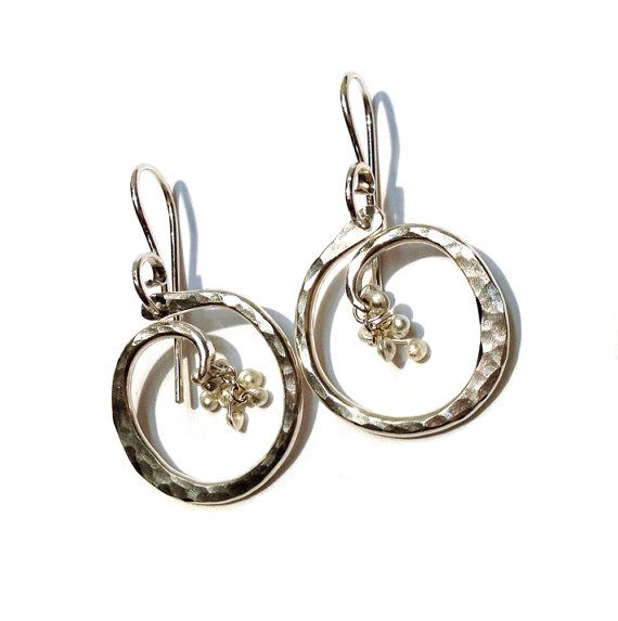 Small Circle of Life with Caviar Earrings-Choose Your by YedOmi