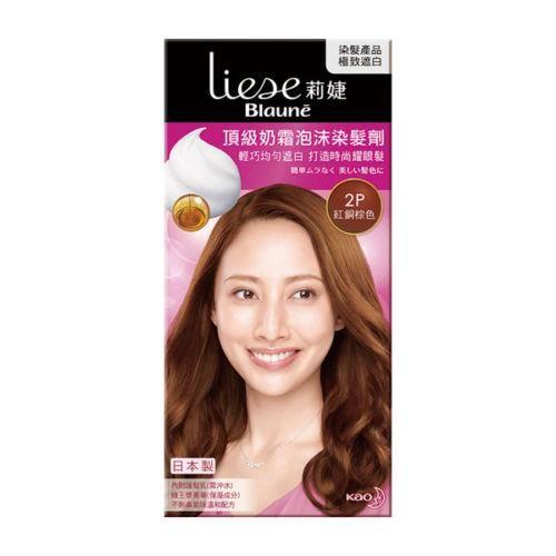 Kao Liese Blaune Premium Foaming Hair Dye Color Kit - 2P Light Warm Brown
