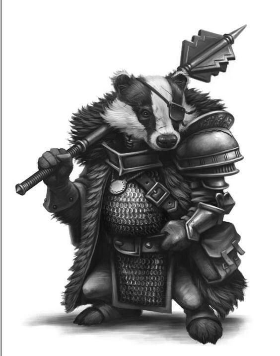 skaven clanrats coloring pages | Badger warrior | Animal warriors/humanoids | Fantasy art ...