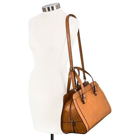 Merona® Satchel Handbag with Removable Crossbody Strap - Cognac ...