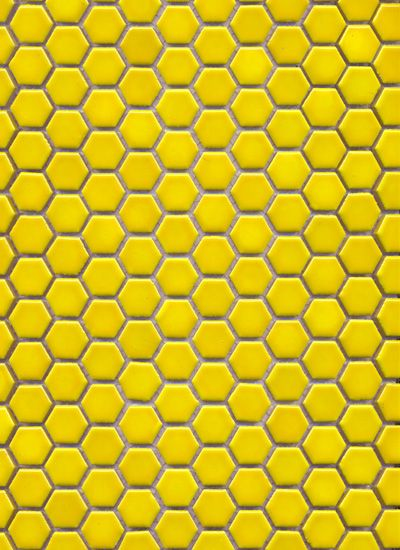Little hexagon tile can pack a punch in electric yellow!
