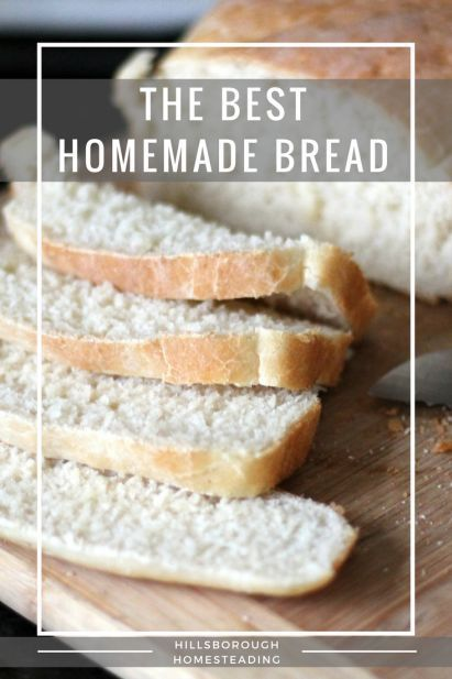 Hands down, the BEST, EASIEST homemade white loaf bread recipe I've ever found. Foolproof. I've never been able to bake bread, but this recipe makes the softest, most delicious white bread. Perfect for your Homestead Kitchen. From Hillsborough Homesteading.