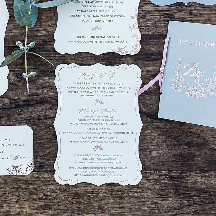 confetti daydreams wedding invitations%0A Rose Gold Menu