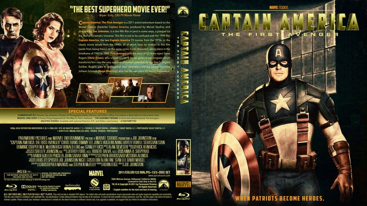 Captain America The First Avenger Blu-ray Custom Cover