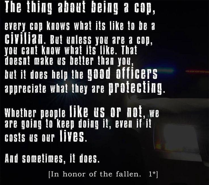 Being a Cop