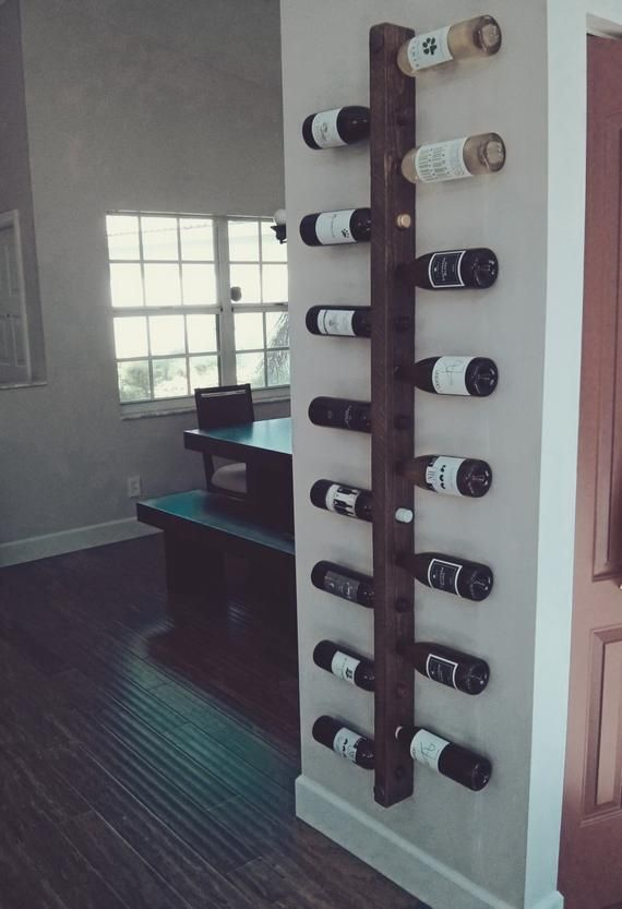 Wine Rack 16 Bottle Ladder, Wine Rack Wood, Wine rack, Wine Rack Wall Mounted, Dining Room Wall Decor, Kitchen Wine Decor, Housewarming Gift