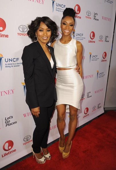 """Angela Bassett Photos Photos - Director Angela Bassett and actress Yaya DaCosta arrive at the premiere of Lifetime's """"Whitney"""" at The Paley Center for Media on January 6, 2015 in Beverly Hills, California. - Premiere Of Lifetime's """"Whitney"""" - Red Carpet"""