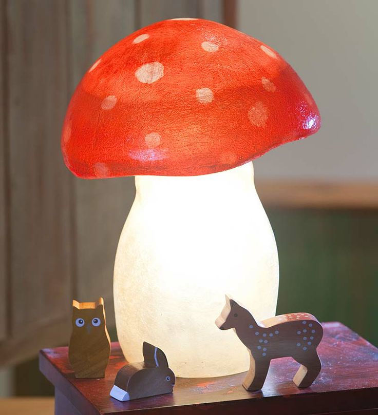 Lightweight Fiberglass Toadstool Accent Light - too cute!!!