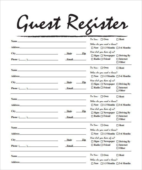 Sample open house sign in sheet 10 documents in pdf Sample Templates #SampleResume #GuestRegisterTemplate