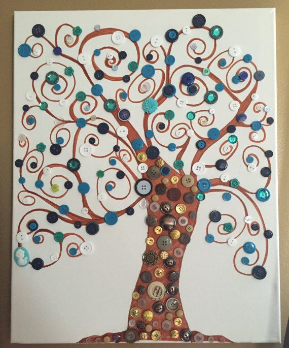 Handcrafted Button Tree by RustedRoseGarden on Etsy