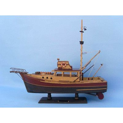 Handcrafted Nautical Decor Jaws - Orca Model Ship