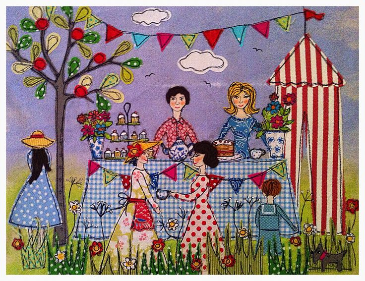 Gorgeous!! Wish everyday was like this... Appliqué picture summer Fete By Lucy Levenson
