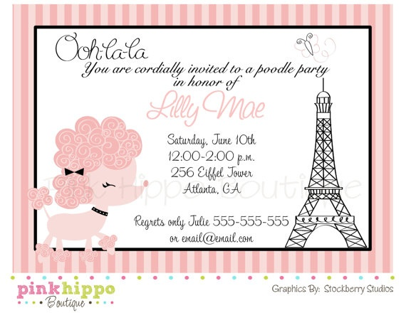 Birthday party invitation french cogimbo parisian french paris birthday invitations di 685 harrison stopboris Gallery
