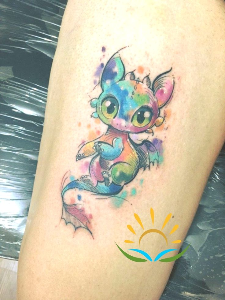 Similar Picture In 2020 Watercolor Dragon Tattoo Baby Dragon Tattoos Small Dragon Tattoos