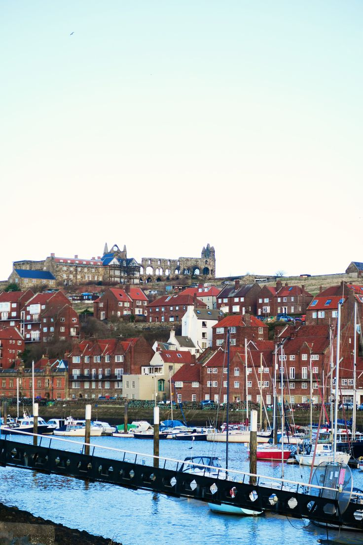 Whitby, the English seaside town in North Yorkshire | Whitby Harbour fish and chips
