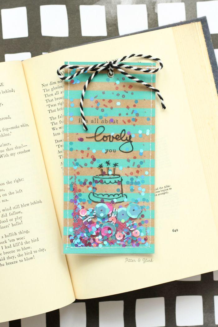 Handmade Shaker Bookmarks Make a shaker card