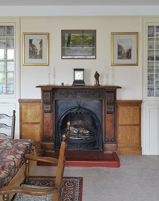 Dining Room Fireplace Interior Photography Professional Country House