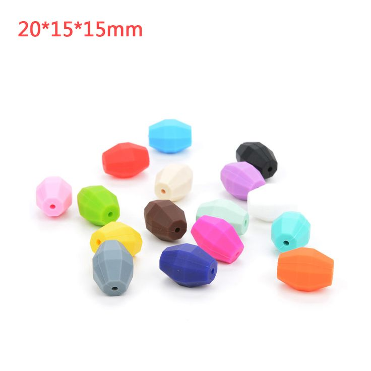 Wholesale New DIY Oak Barrel Silicone Beads For Big Long Necklace Loose Silicone Beads Silicone Chew Beads Food Grade Safety Toy