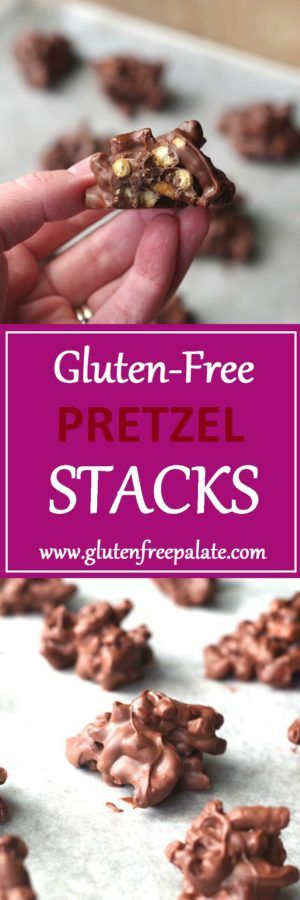 Need a quick, sweet, and salty dessert that will please any palate? Try these simple and tasty gluten-free pretzel stacks.