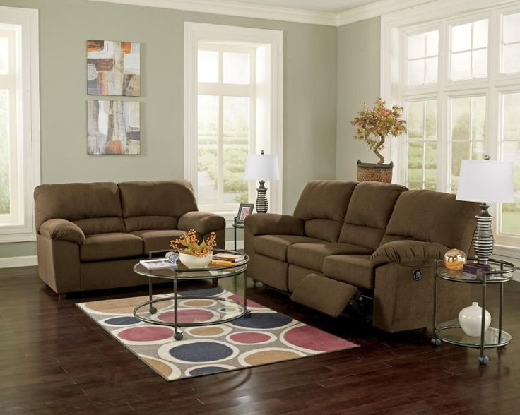 Living Room  Ashley  Kickoff Chocolate 33801 · Discount Furniture ...