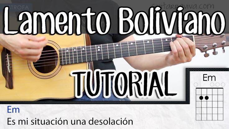 Como tocar Lamento Boliviano  acordes guitarra tutorial Enanitos verdes ...