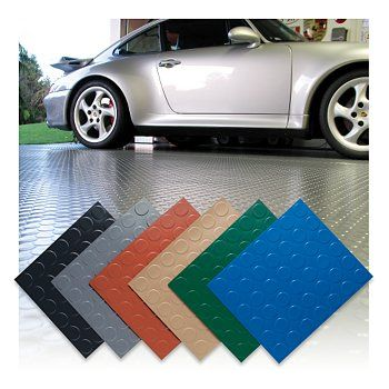 coin top garage floor mats