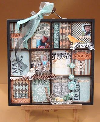 Birthday Reminder Board - This is AWESOME!!! I'm going to make this for my craft space! :D (not sure where we'll find this frame though...
