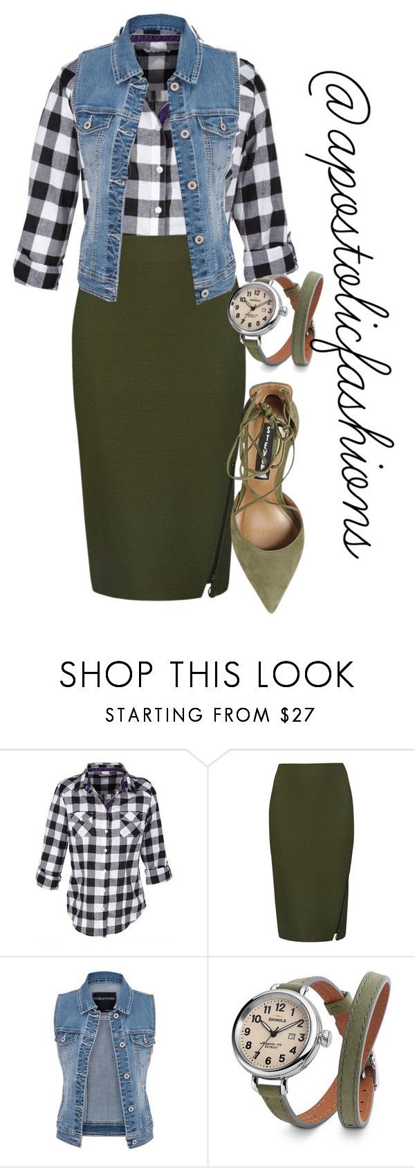 """Apostolic Fashions #1357"" by apostolicfashions ❤ liked on Polyvore featuring M&S Collection, maurices, Shinola, Steve Madden, modestlykay and modestlywhit"