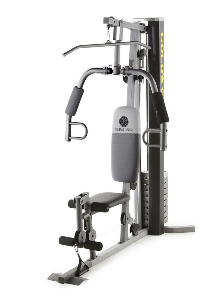 Golds gym xrs 50 home gym with high and low pulley system