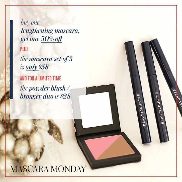 Cyber Monday sale, don't miss out! - It's Mascara Monday and we're offering free shipping on ALL orders of $100 or more. Quick Tip: Add the second Mascara to your cart to see the discounted price. The Blush/Bronzer duo is an EXCLUSIVE color - get it while supplies last!