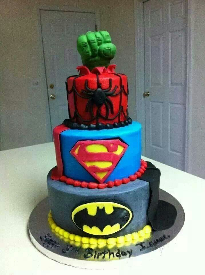 Superhero cake-best cake EVER