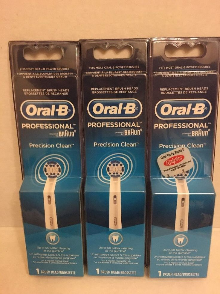 Oral B Precision Clean Electric Toothbrush Replacement Brush Head Pack of 3   eBay