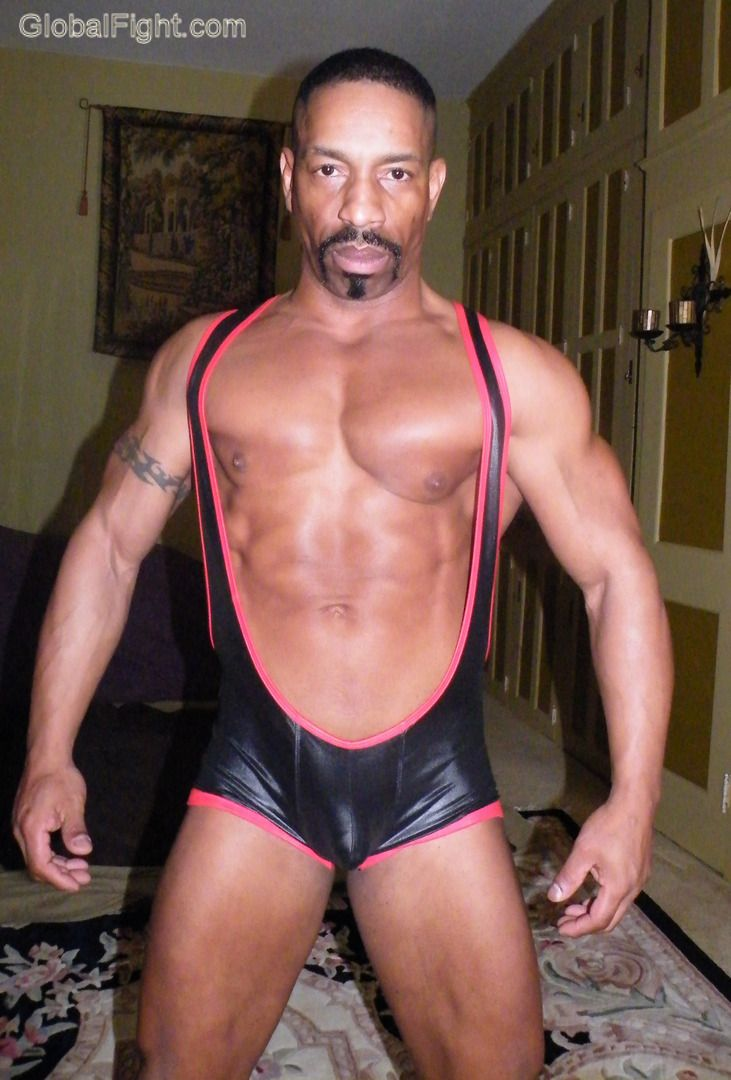 from Desmond spandex tights for gay hunks