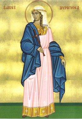 St Dymphna, patron saint of those with mental illness and the abused. 7th century Ireland.